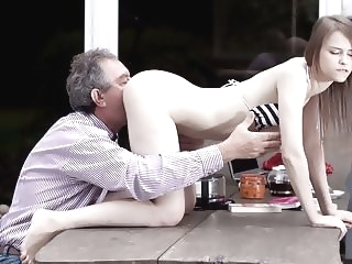 Perfect Natural Teen Fucked by Grandpa Outside And Swallows facial old & young hd porn