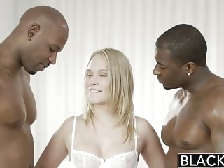 BLACKED Beautiful Blonde Dakota James Screams With 2 Big Bla interracial hd videos hd porn