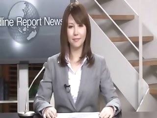 Real Japanese news reader two japanese public hd porn