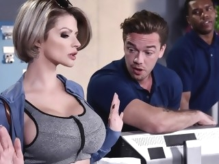 Joslyn James Kyle Mason in Let Me Fuck Your Manager - BrazzersNetwork facial milf hd porn
