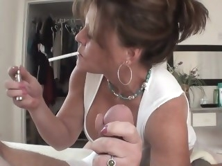 Cougar Smoking Handjob mature handjob hd porn