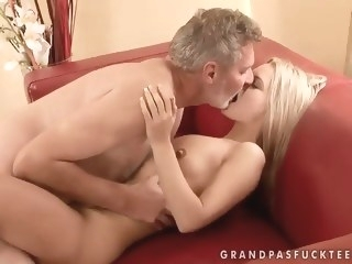 Sabrinka is having some good sex with an older guy and his dick blowjob mature hd porn