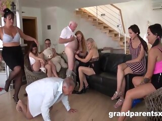 Perverted Grandparents Orgy Part 1 blonde brunette hd porn