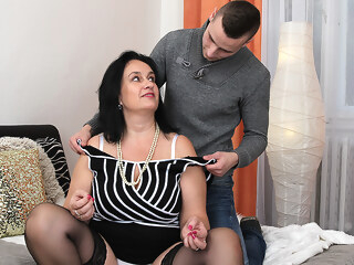 Big Breasted Chubby Housewife Doing Her Toy Boy - MatureNL big tits dutch hd porn